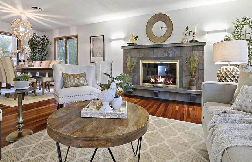 Staged room by New Vistas Home Staging